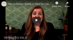 Screen shot of a video of one of our Chicago therapists talking about how couples can cope with the shelter in place order in Illinois