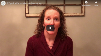 Screen Shot from our Chicago therapist's video offering tips for parents during quarantine.