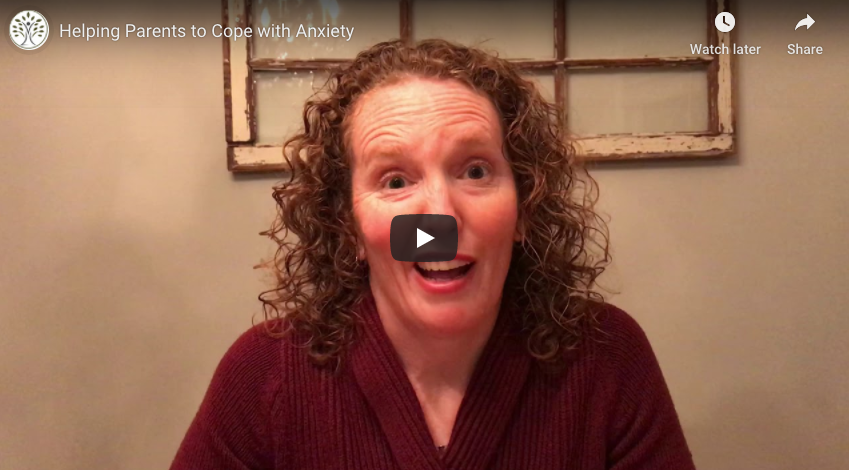 Screen shot of a video on helping parents cope with anxiety from a Life Path Therapist in Chicago, IL